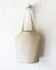 ESBY FISHERMAN TOTE - BONE CALFSKIN