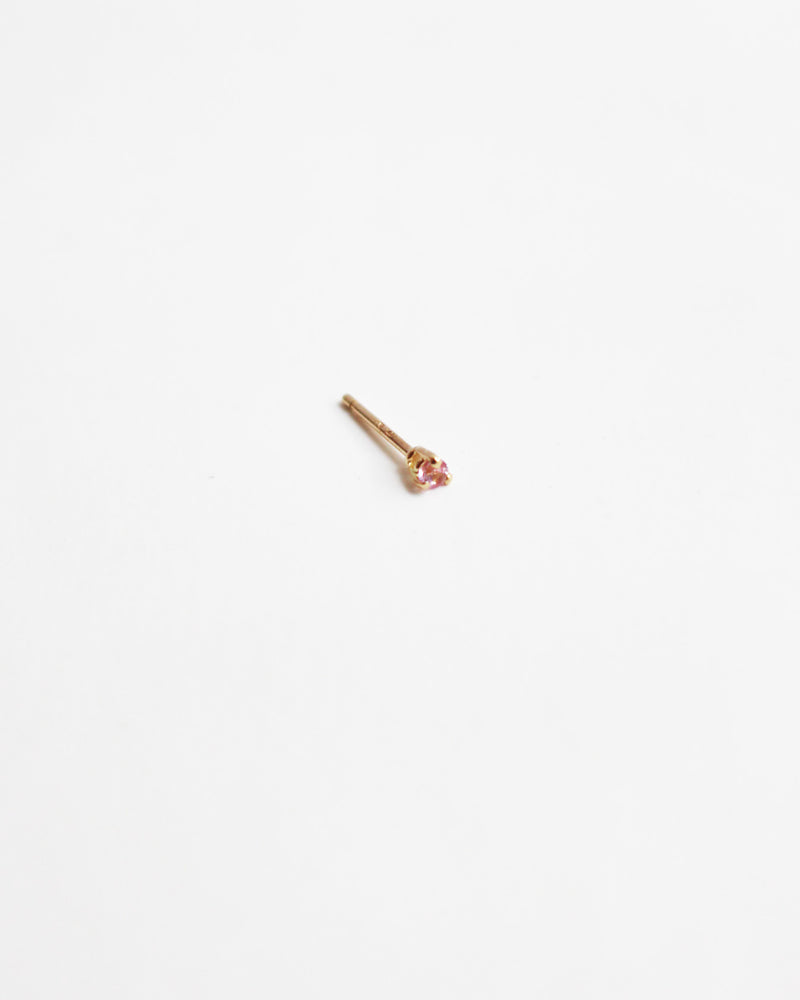 Load image into Gallery viewer, BLANCA MONROS GOMEZ - TINY PINK SAPPHIRE STUD