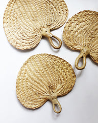 VINTAGE BURI PALM LEAF FAN
