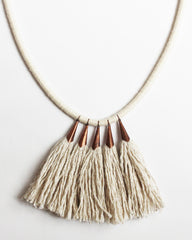 FIBROUS - BRIDGE NECKLACE - NATURAL