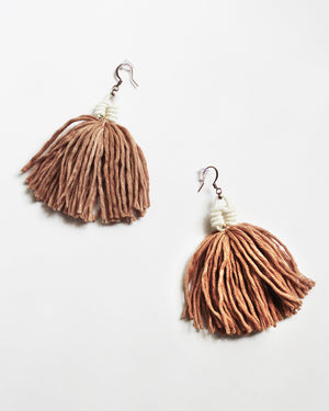 Load image into Gallery viewer, FIBROUS - ELSIE EARRINGS - DUSTY PINK