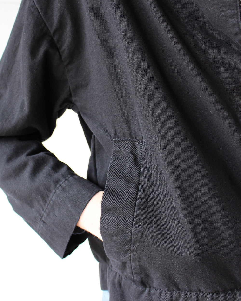 CANAL SLOUCH JACKET - BLACK