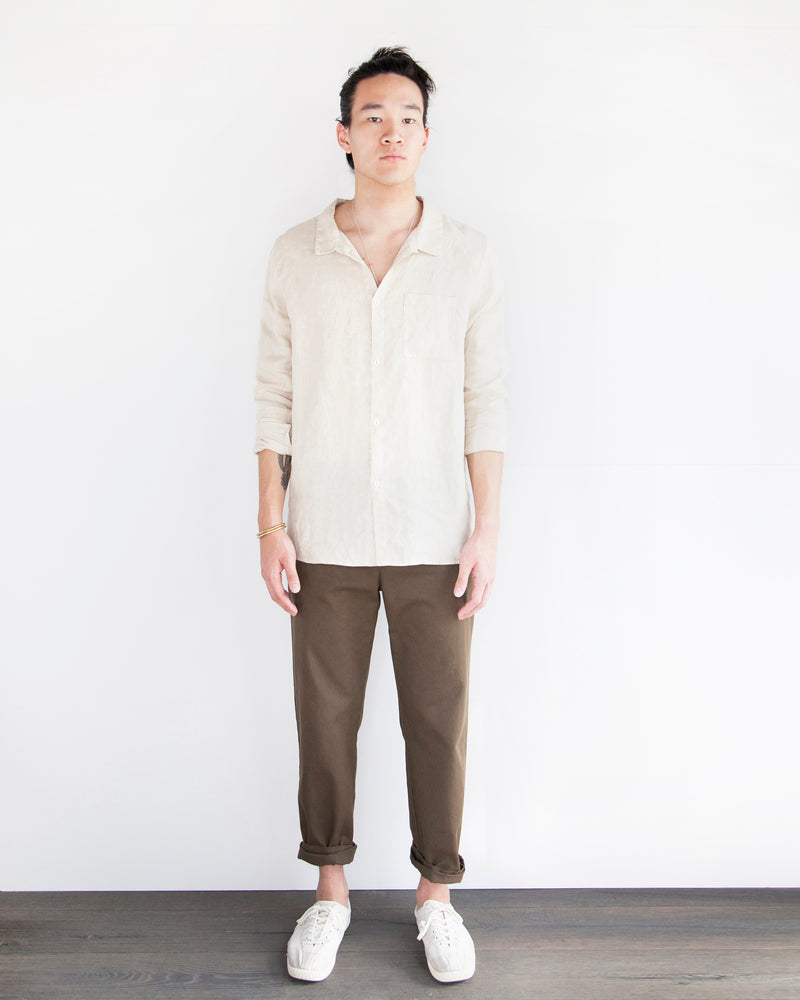 Load image into Gallery viewer, WILLIAM LINEN BUTTON DOWN - DUNE