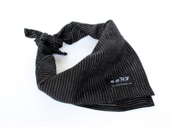 STRIPE BANDANA - BLACK