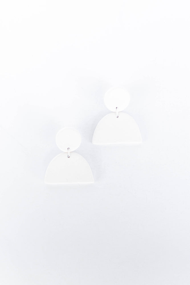 Load image into Gallery viewer, GUTEN CO - CRESCENT EARRING - PORCELAIN