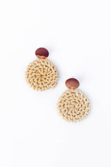 FIBROUS - ROSE GOLD RATTAN EARRINGS