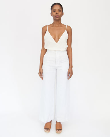 VAL CROP PANT - SEA SALT