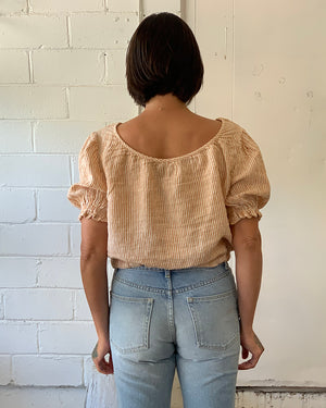 ISOBEL TOP - RUST STRIPE