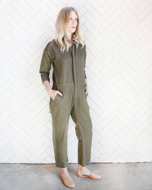 Load image into Gallery viewer, CHARLIE JUMPER - OLIVE - XS