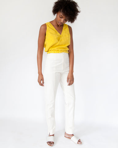 MERCY CIGARETTE PANT - NATURAL SLUB
