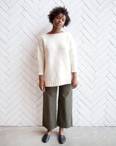 ANDREA AMERICAN SWEATER - NATURAL