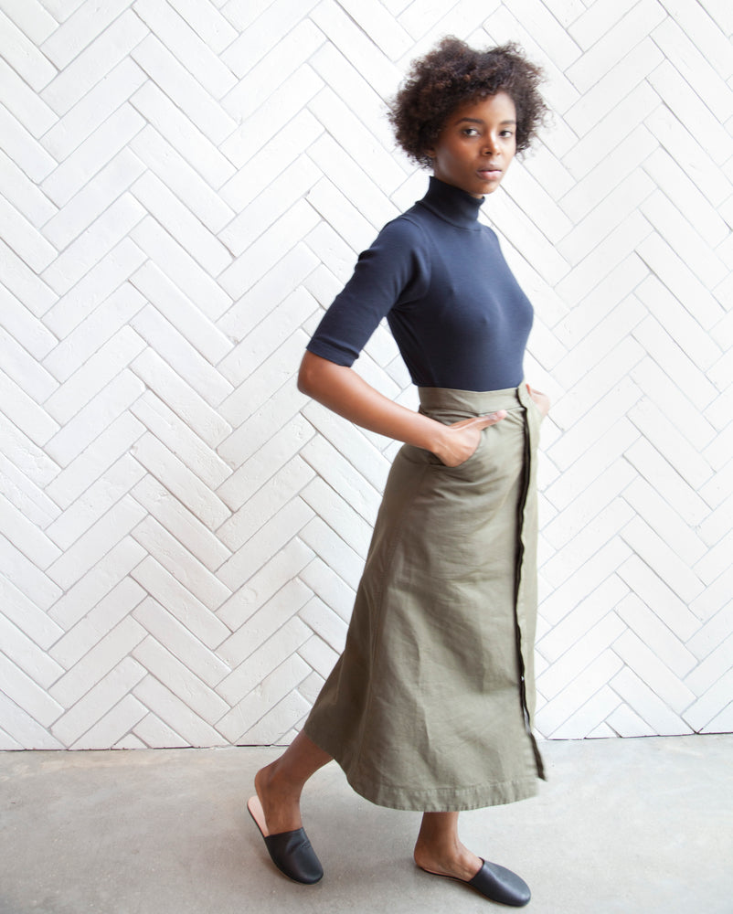 Load image into Gallery viewer, LORETTA MILITARY SKIRT - OLIVE