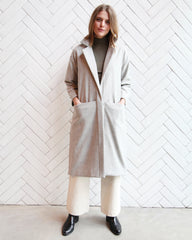 CLAIRE WOOL DUSTER - LIGHT GREY