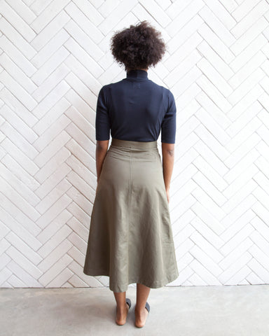 LORETTA MILITARY SKIRT - OLIVE