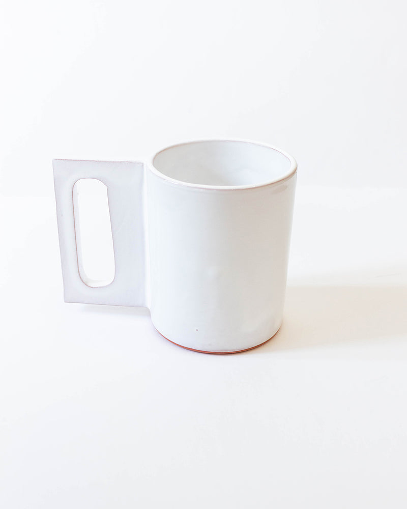 Load image into Gallery viewer, GUTEN CO - GLOSS WHITE GEO MUG