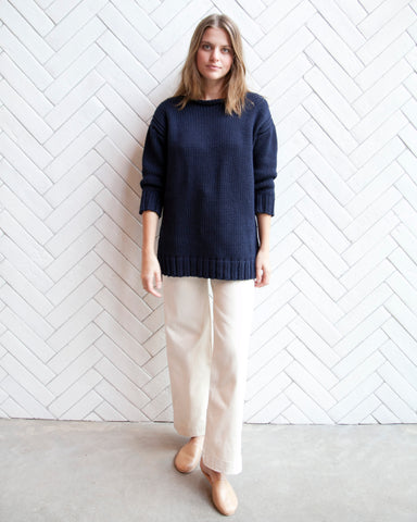 ANDREA AMERICAN SWEATER - NAVY