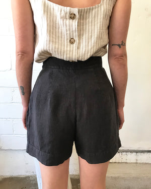 PENNY SHORT - WASHED BLACK