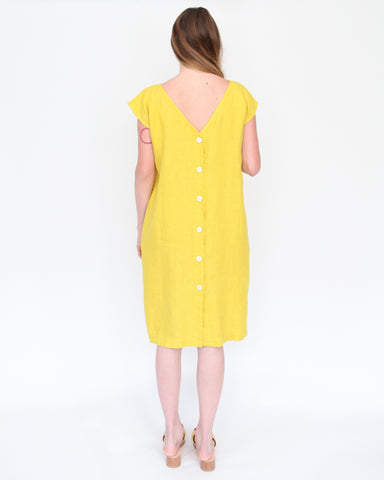 MALIA SHIFT DRESS - CURRY