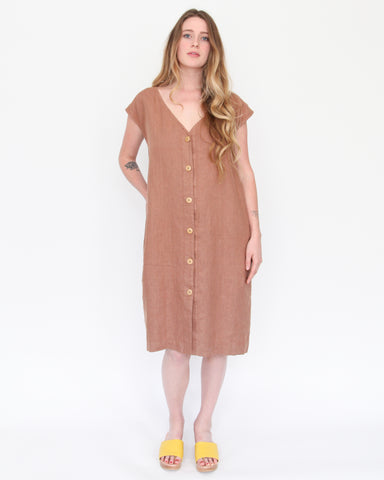 MALIA SHIFT DRESS - PECAN