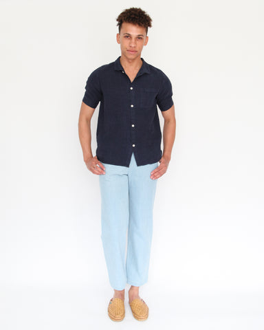 JEREMY BUTTON DOWN - INDIGO