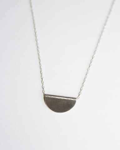 CLAUS - PETITE HALF MOON NECKLACE