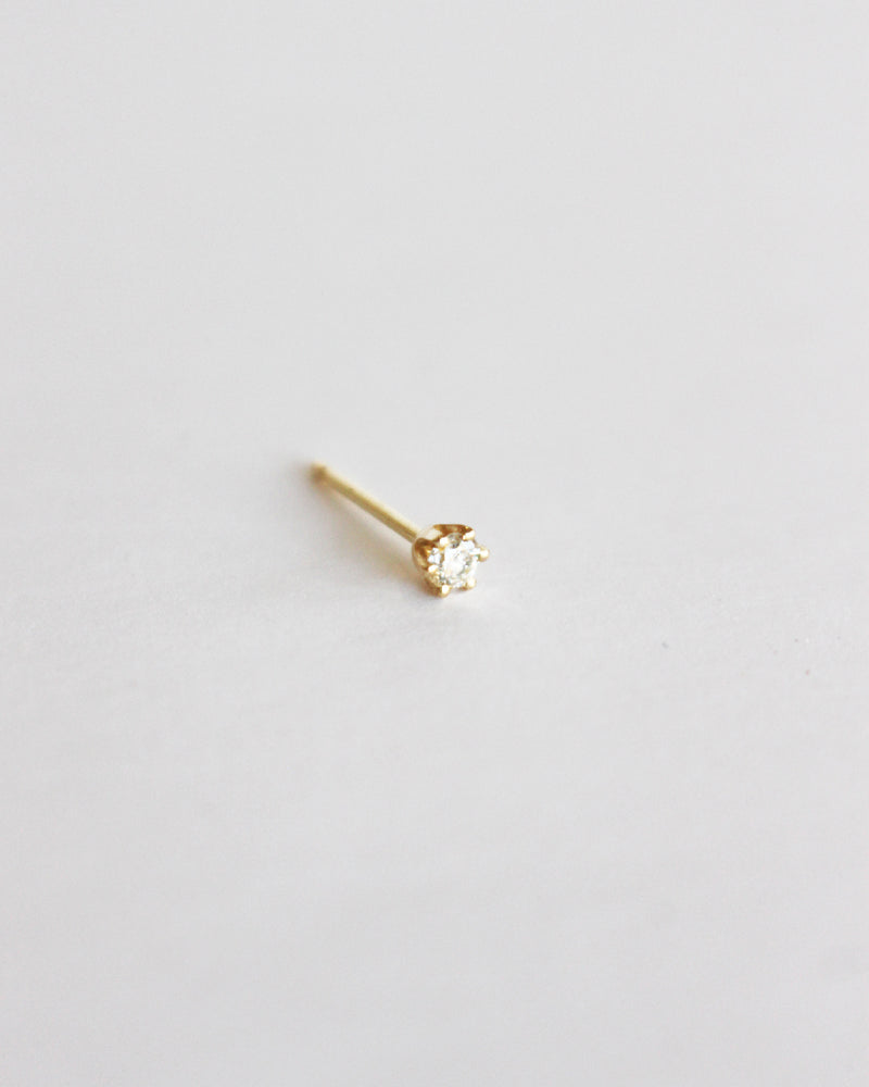 Load image into Gallery viewer, BLANCA MONROS GOMEZ - LITTLE STUD - 14K YELLOW GOLD WITH WHITE DIAMOND