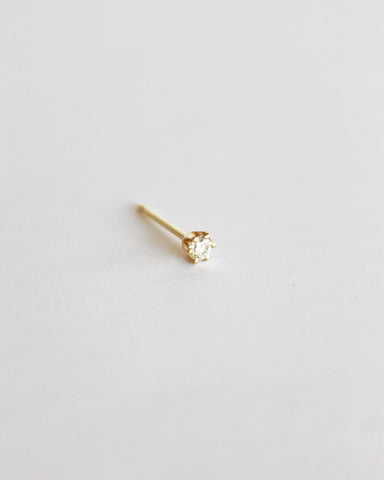 BLANCA MONROS GOMEZ - LITTLE STUD - 14K YELLOW GOLD WITH WHITE DIAMOND