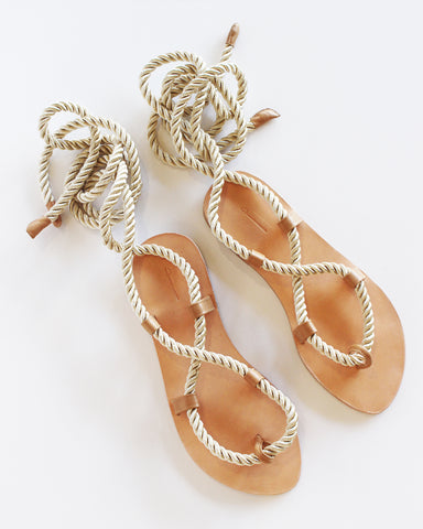 THE PALATINES - HELICA SANDAL - CHAMPAGNE + TAN