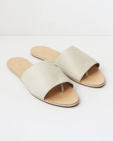 THE PALATINES - CAELUM SLIDE - CREAM NUBUCK