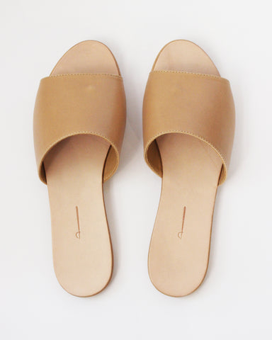 THE PALATINES - CAELUM SLIDE - TAN SMOOTH LEATHER