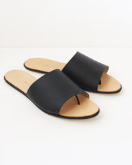 THE PALATINES - CAELUM SLIDE - BLACK SUPER MATTE LEATHER