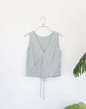 POPPY TOP - SKY GREY