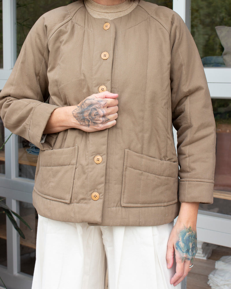 RAVEN QUILTED JACKET - EARTH