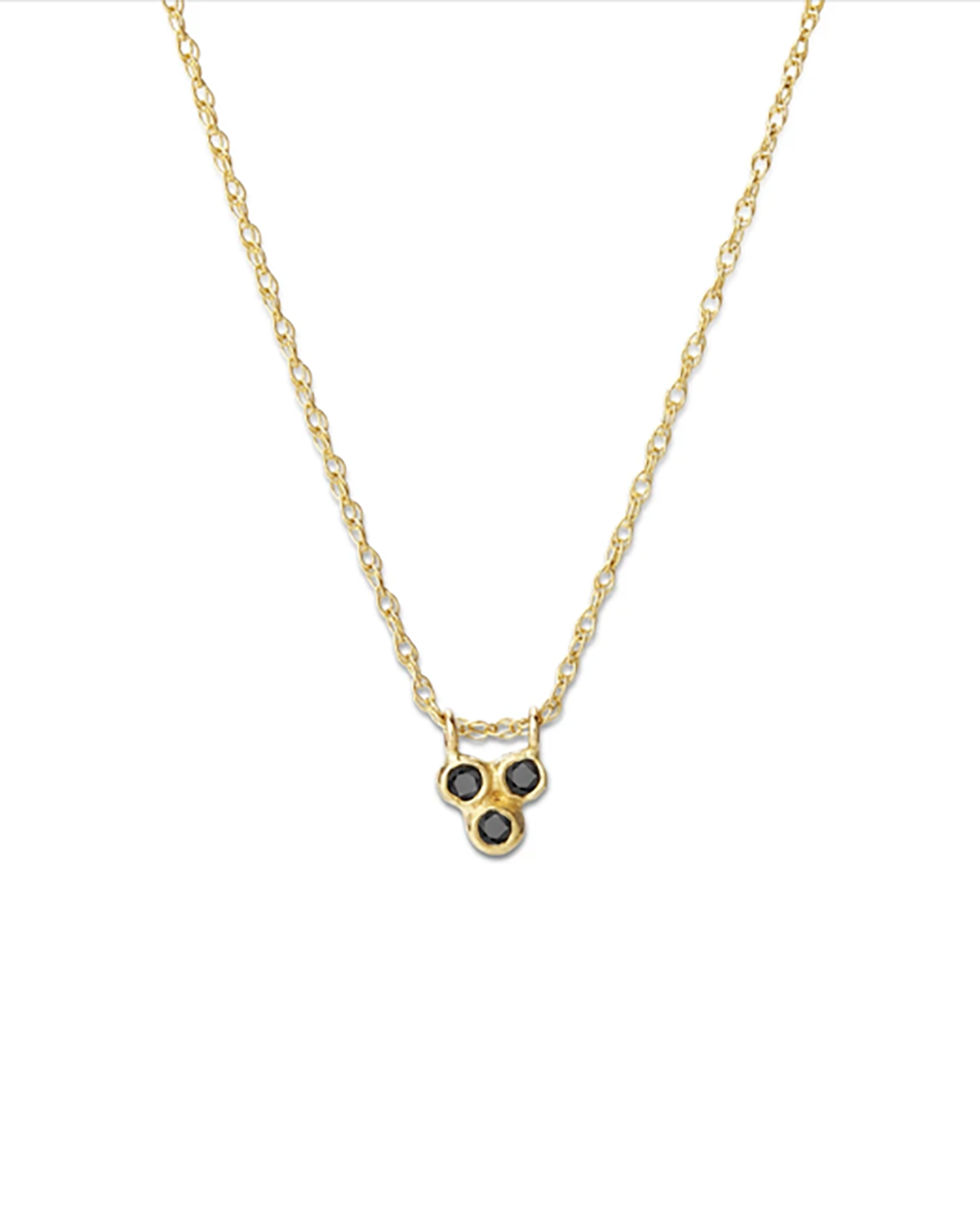 BLANCA MONROS GOMEZ - TRIPLE SEED NECKLACE - BLACK DIAMOND