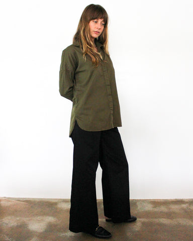 STELLA L/S BUTTON DOWN - OLIVE