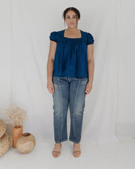 ALLY TOP - INDIGO DOT