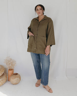 Load image into Gallery viewer, NOAH WORKSHIRT - OLIVE