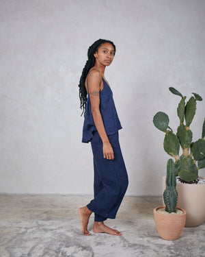 Load image into Gallery viewer, REMI LOUNGE PANT - INDIGO