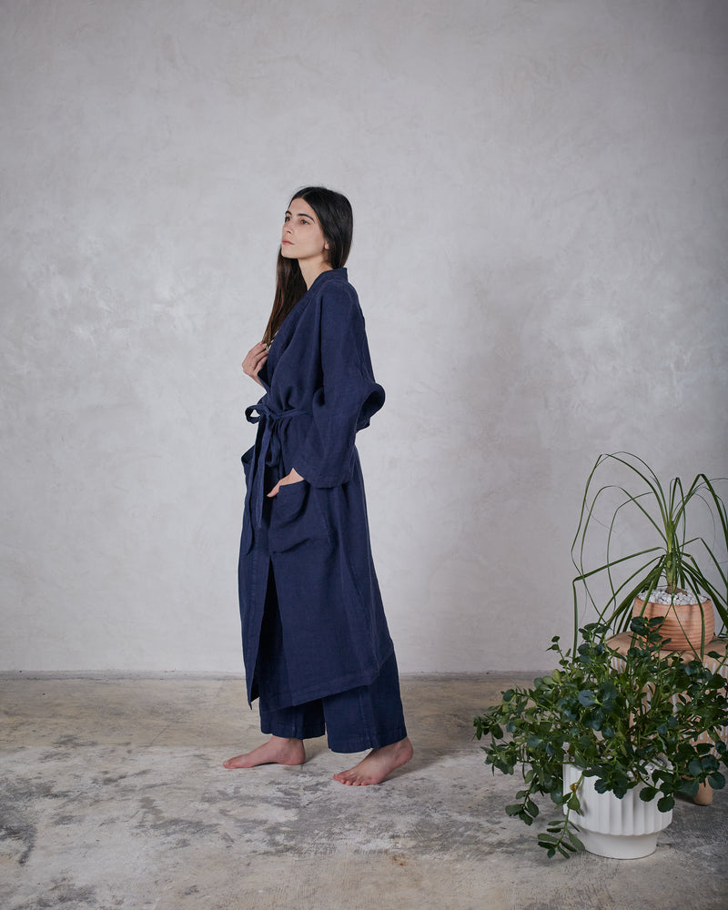 Load image into Gallery viewer, ESBY ROBE - INDIGO