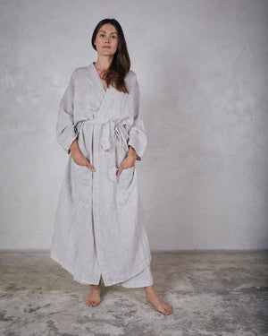 Load image into Gallery viewer, ESBY ROBE - TANNER STRIPE