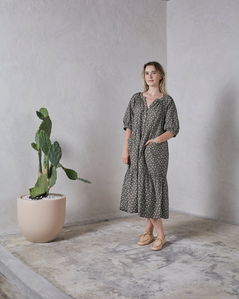 MILLIE DRESS - BASIL RISTRA