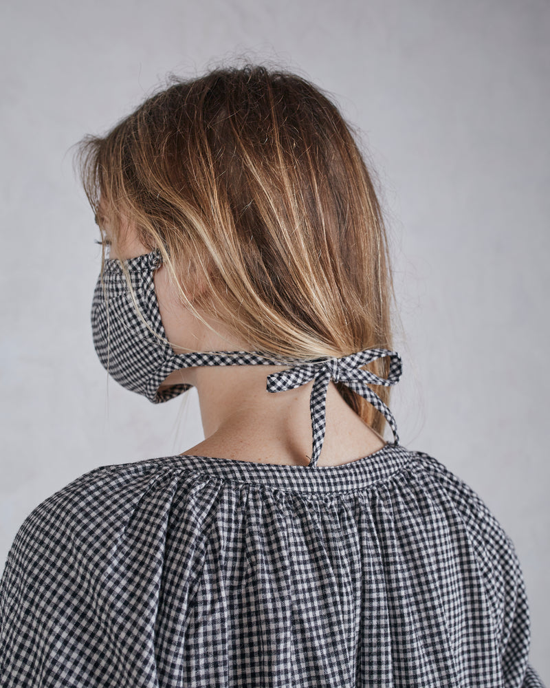 COLLECTION FACE MASK - COAL GINGHAM