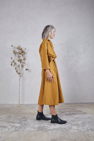 MABEL DRESS - OCHRE