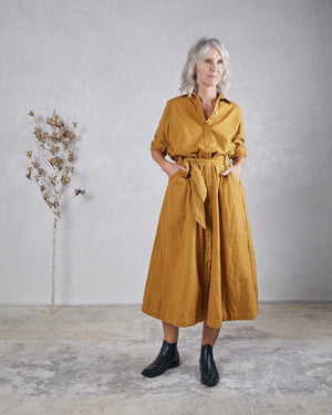 Load image into Gallery viewer, MABEL DRESS - OCHRE