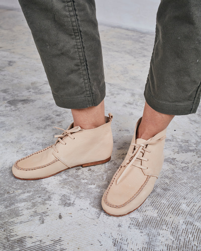 TAKA SHOES - HI-TOP MOCCASIN - NATURAL