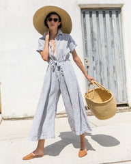 SAVANNAH JUMPSUIT - ASH STRIPE