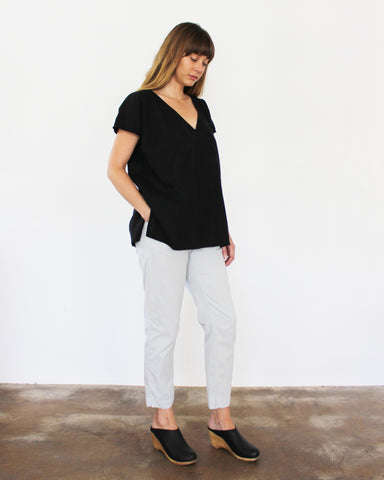 AVERY TUNIC TOP - BLACK