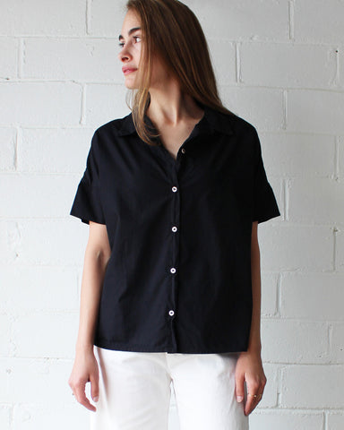 STELLA BUTTON DOWN - BLACK INK