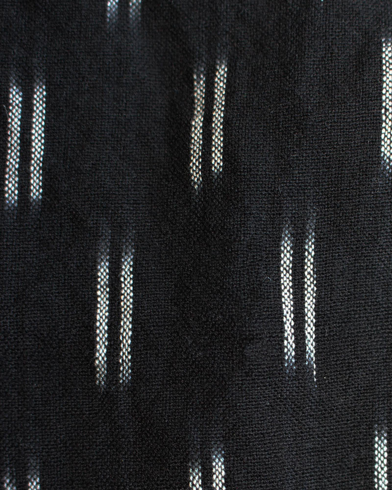 black cotton ikat