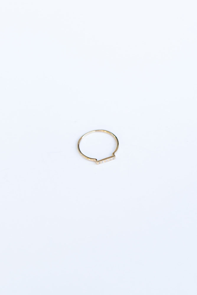 BLANCA MONROS GOMEZ - DAINTY STACKING RING - YELLOW GOLD